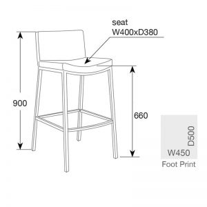 jesse6 300x300 - Jesse Bar Stool - Black