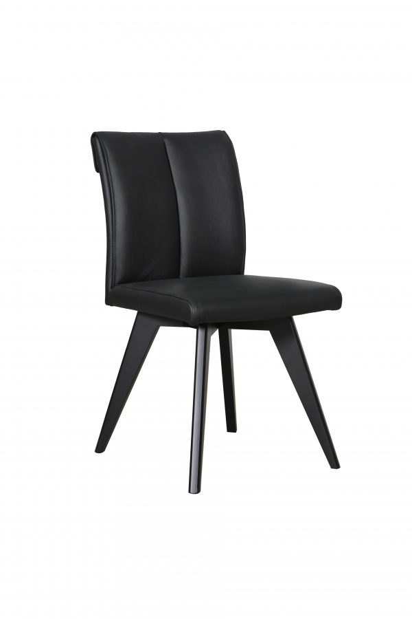 A1.11 Hendrick Chair Black Black 1 600x900 - Hendriks Dining Chair Black - Black Leather