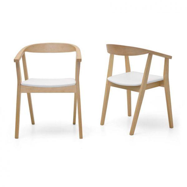 Albert 600x600 - Albert Dining Chair - White