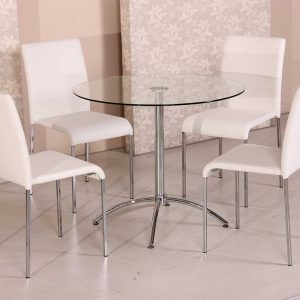 Café Citro 5 piece Dining Setting White 300x300 - Cafe Citro 5 piece Dining Setting White
