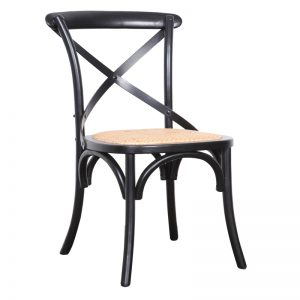 Crossback Chair Black 300x300 - Crossback Dining Chair Black