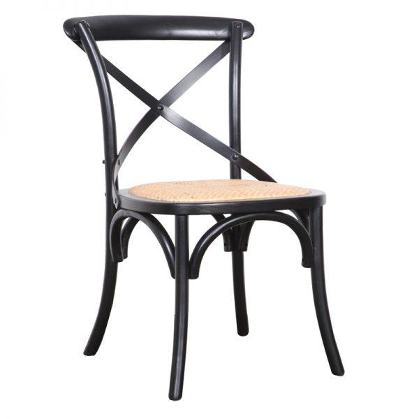 Crossback Chair Black 600x600 - Crossback Dining Chair Black
