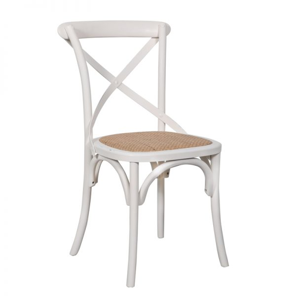 Crossback Dining Chair White 1 600x600 - Crossback Dining Chair White