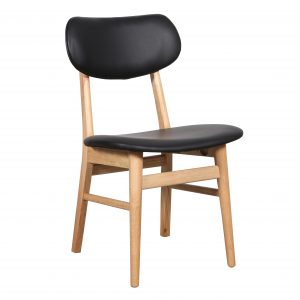 Gangnam Dining Chair Black 1 300x300 - Gangnam Dining Chair Natural - Black