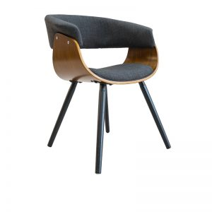 Kepler Ding Chair Charcoal Walnut 300x300 - Kepler Dining Chair Walnut - Charcoal