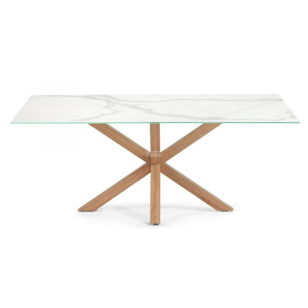 c429k05 3b 600x600 - Arya 2000 Dining Table Ceramic Top - Timber Base