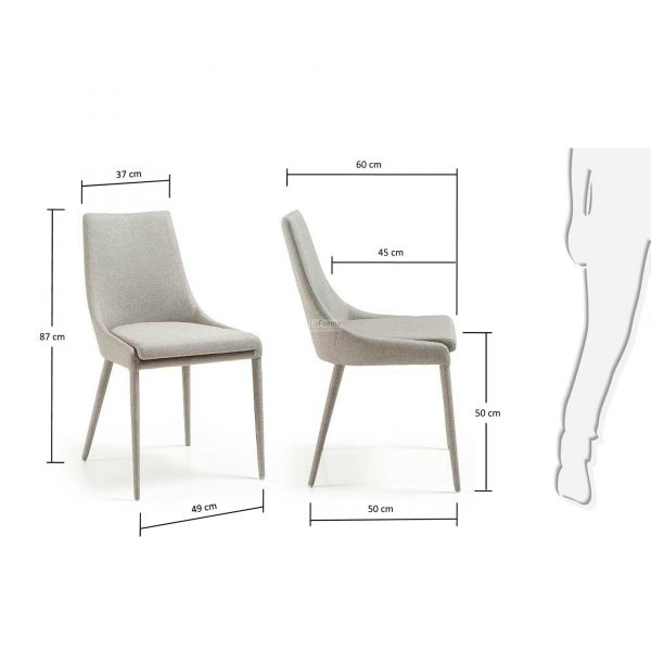 c626j14 3m 600x600 - Dant Dining Chair - Light Grey