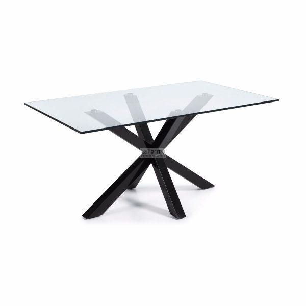 cc0387c07.3a 600x600 - Arya 1500 Dining Table Glass Top - Black Base