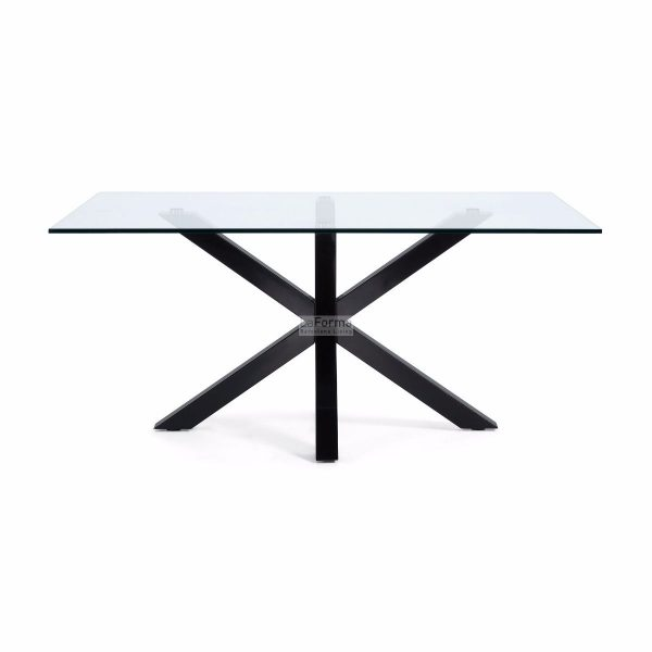 cc0387c07.3b 600x600 - Arya 1500 Dining Table Glass Top - Black Base