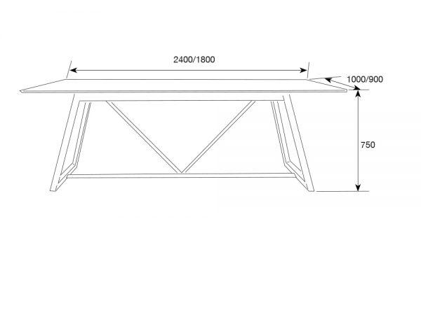 pascal3 1 600x480 - Pascal 1800 Dining Table