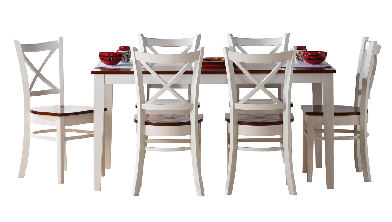 Gentil Crossback 7 Piece Dining Setting