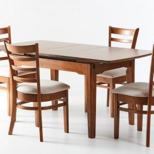 HM Ascot Extension table Open Mustang chair 300x300 - Ascot Extension Table With 4 Mustang Chairs