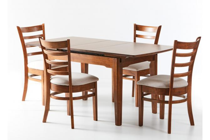 Ascot Extension Table With Mustang Dining Chairs