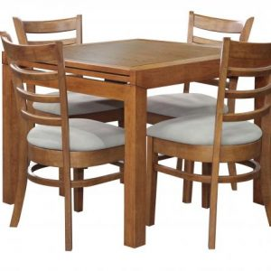 Sorrento Ext Table Mustang Chair Teak 300x300 - Sorrento Extension Table with 4 Mustang Chairs - Teak