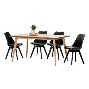 Bruno 538351 442191 300x300 - Bruno Replica Charles & Ray Eames Padded 7  Piece Dining Set - Oak