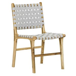 Lazie 068351 446847 300x300 - Lazie Leather Dining Chair (Set of 2) White