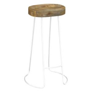 Vivin Tractor Stool white 300x300 - Tractor Bar Stool -White