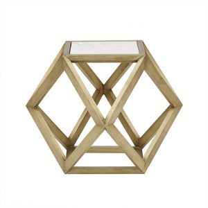ct taj hex mar brs 1 300x300 - Taj Hexagonal Marble Side Table