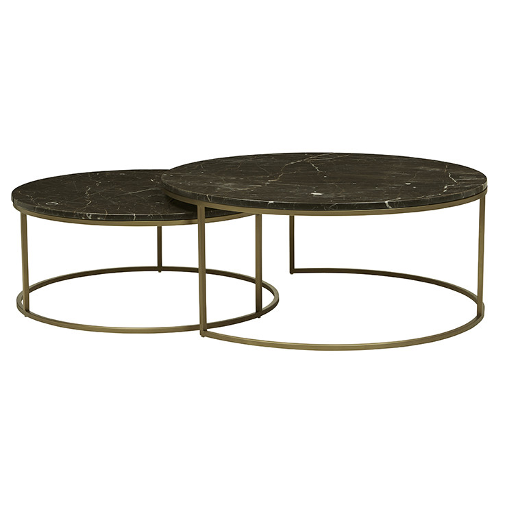 Elle Round Marble Nest Coffee Tables Moorabbin Home