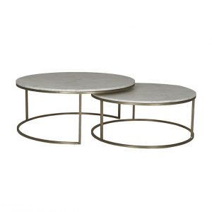 cto ell nest bsglmtwh 1 300x300 - Elle Round Marble Nest Coffee Tables