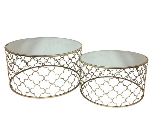 Atlantic Set of 2 600x474 - Atlantic Set Of 2 Coffee Tables - Champagne