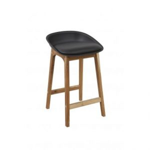 Loire Black Front 300x300 - Loire Bar Stool - Black