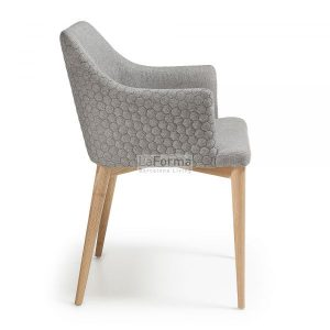 cc0077jq03 3b 300x300 - Danai Quilted Armchair - Light Grey