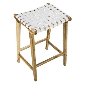 laz16 300x300 - Lazie Leather Bar Stool - White
