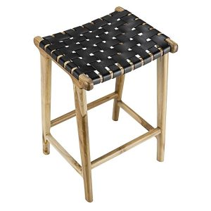laz2 300x300 - Lazie Leather Bar Stool - Black