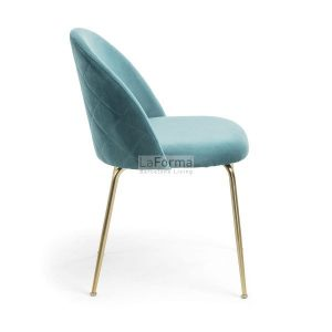 mys10 300x300 - Mystere Dining Chair - Teal Velvet/Gold
