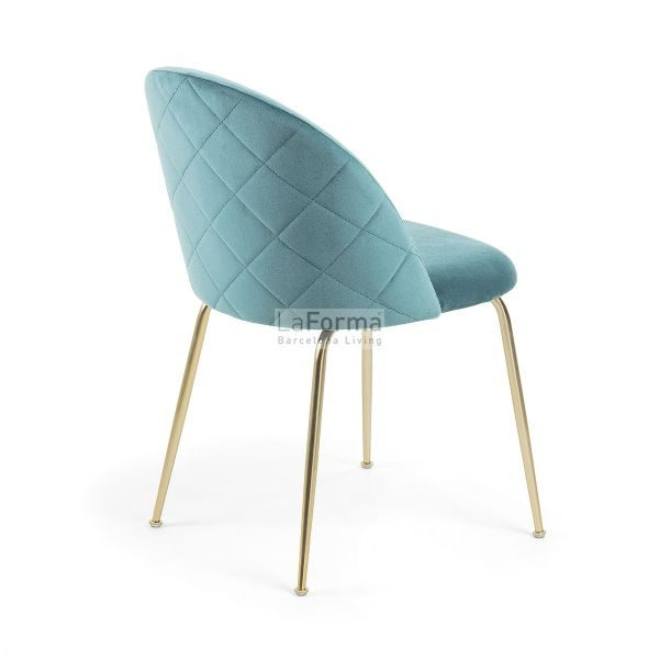 mys11 600x600 - Mystere Dining Chair - Teal Velvet/Gold