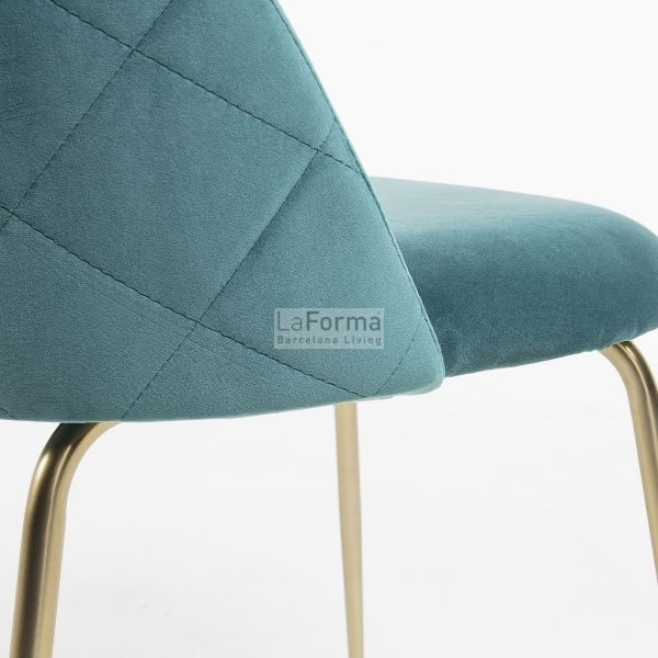 mys12 600x600 - Mystere Dining Chair - Teal Velvet/Gold