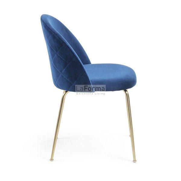mys2 600x600 - Mystere Dining Chair - Navy Blue Velvet/Gold