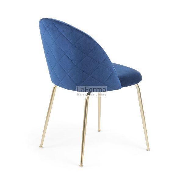 mys3 600x600 - Mystere Dining Chair - Navy Blue Velvet/Gold