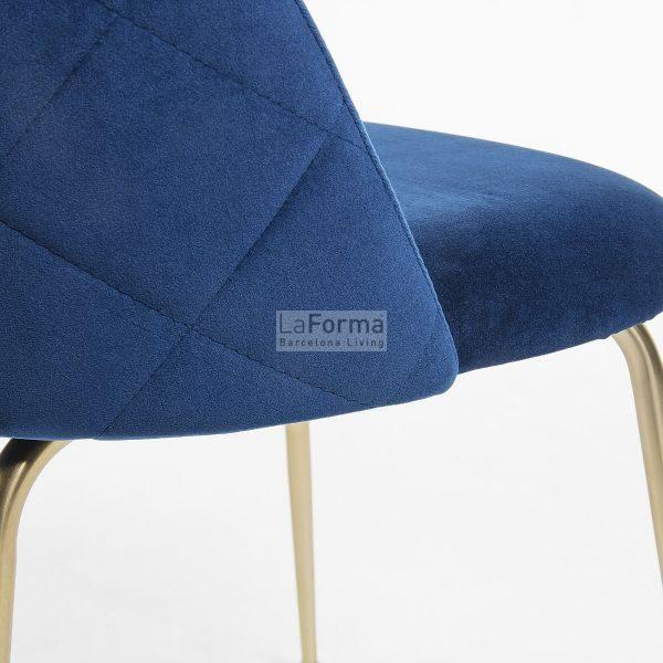 mys4 600x600 - Mystere Dining Chair - Navy Blue Velvet/Gold