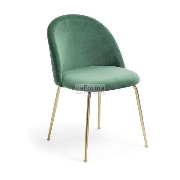 mys5 600x600 - Mystere Dining Chair - Emerald Velvet/Gold
