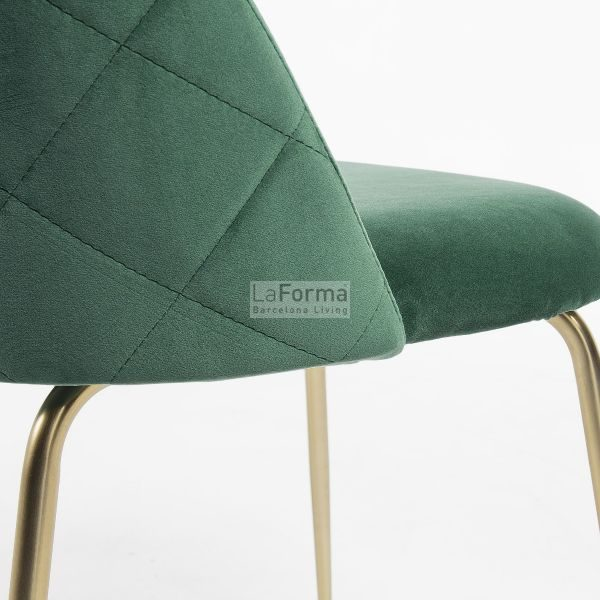 mys8 600x600 - Mystere Dining Chair - Emerald Velvet/Gold