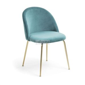 mys9 300x300 - Mystere Dining Chair - Teal Velvet/Gold