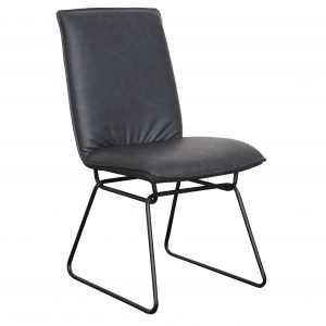 A1.25 Detroit Gunmetal PU 300x300 - Detroit Dining Chair - Gunmetal