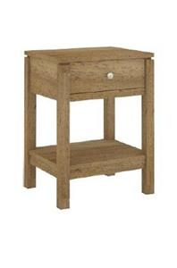 CUBIST BEDSIDE TABLE 45X37X60CM NATURAL VCT 036 N - Cubist 1 Drawer Bedside - Natural