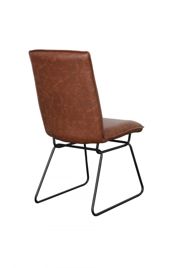 Detroit chair Back Saddle Black2 600x900 - Detroit Dining Chair - Saddle