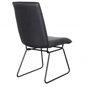 Detroit chair Gunmetal Black2 300x300 - Detroit Dining Chair - Gunmetal