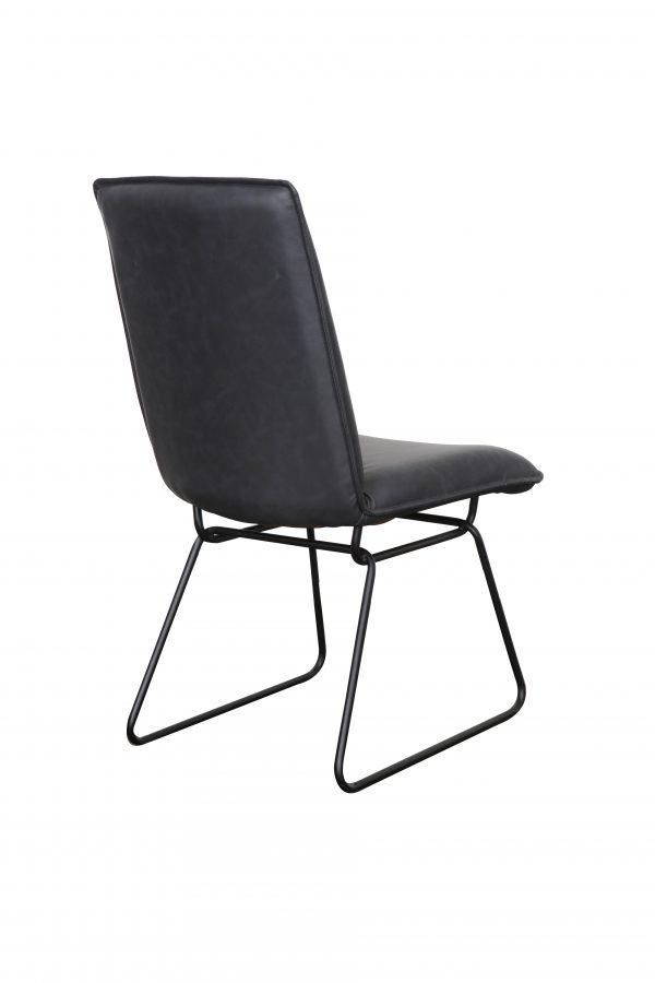 Detroit chair Gunmetal Black2 600x900 - Detroit Dining Chair - Gunmetal