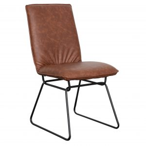 Detroit chair Saddle Black 300x300 - Detroit Dining Chair - Saddle