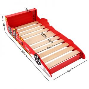 FUNKI BED CAR01 RD AB 01 300x300 - Kids F1 Racing Car Bed - Red
