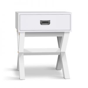 Shane 300x300 - Shane Bedside Table - White