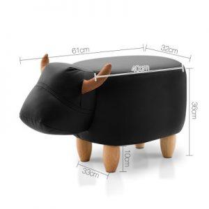 UPHO C ANIMA COW BK 01 300x300 - Kids Cow Animal Stool Black