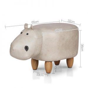 UPHO C ANIMA HIPO LI GY 01 300x300 - Kids Hippo Animal Stool Beige