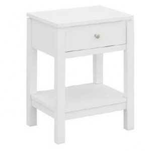 VCT 036 W 300x300 - Cubist 1 Drawer Bedside - White