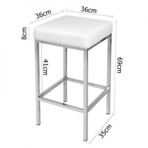 aloma5 300x300 - Aloma Bar Stool - White